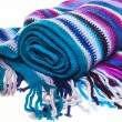 Striped multicolored woolen scarf pattern — Stock Photo