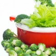 Healthy veggies ready for a salad — Stock Photo