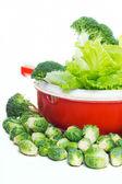 Sane pronto per un'insalata di verdure — Foto Stock