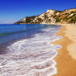 Sandy beach on Corfu island — Stock Photo