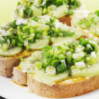 Stock Photo: Light open faced cucumber sandwiches