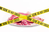 Meat crime scene concept — Stock Photo