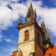 Detail of the architecture surrounding the Old Town Square in Prague — 图库照片