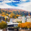 Stock Photo: City center in Karlovy Vary, Czech Republic