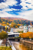City center in Karlovy Vary, Czech Republic — Stock Photo