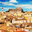 Panoramic view of Corfu Old Town, Greece — Stock Photo #42383547