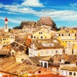 Panoramic view of Corfu Old Town, Greece — Stock Photo