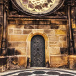 Old City Hall door in Prague — Stock Photo