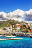 Port on the island of Naxos, Greece — Stock Photo