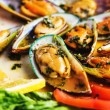 Steamed mussels, selective focus — Stock Photo #46200543