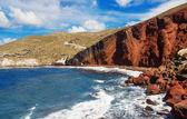 The popular Red Beach, Santorini, Greece — Stock Photo
