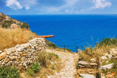 Ruins in Kastro, old metropolis of Skiathos Island — Stock Photo