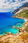 Kastro beach, ilha de skiathos, Grécia — Fotografia Stock