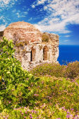 Ruins in Kastro, old metropolis of Skiathos Island — Stock Photo