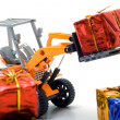 Model toy trucks shifted gifts — Stock Photo #4684948