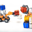 Model toy trucks shifted gifts — Stock Photo #6035342