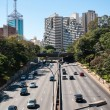 Traffic avenue city sao paulo — Stock Photo