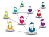 In social network — Stock Vector
