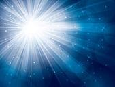 лучи света со звездами и снег — Cтоковый вектор