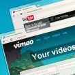 YouTube and Vimeo — Stock Photo