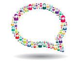 Kabarcık iletişim — Stok Vektör
