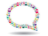 Bubble of communication — Stock Vector
