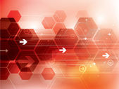 Resumen antecedentes técnicos rojo — Vector de stock