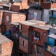 Shacks in the slum in Sao Paulo - Stok fotoğraf