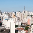 Aerial view of buildings on Paulista avenue — Stock Photo