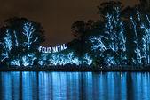 Noel ağacı sao paulo brezilya — Stok fotoğraf