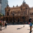 Municipal theater of Sao Paulo — Stock Photo