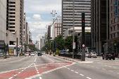 Paulista Avenue in Sao Paulo, Brazil — Stock Photo