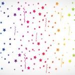 Vector abstract colorful confetti — Stock Vector