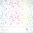 Abstract Confetti background — Stock Vector