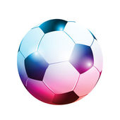 3D abstract football ball — 图库矢量图片