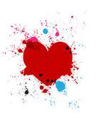 Grunge hjärtat splash — Stock vektor