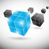 Vektorové pozadí abstraktní datové krychle — Stock vektor