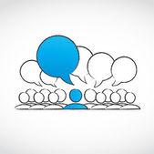 Social conversation group vector — Stock Vector