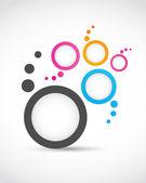 Logo abstract circles — Stock Vector