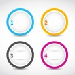 Abstract option circles — Stock Vector