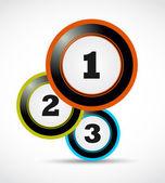 Astratto 1 2 3 bolle — Vettoriale Stock
