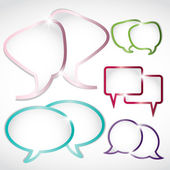 Shiny gem colors speech bubble set — Stock Vector