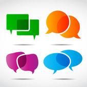 Discorso sociale media bolla insieme — Vettoriale Stock