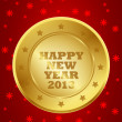 2013 golden label — Stock Vector