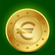 Golden Euro Symbol — Stock Vector #13688213