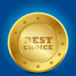 Royalty-Free Stock Vector Image: Best choice golden label