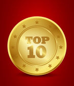 Golden top ten — Stock Vector