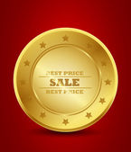 Gold best price sale seal — Stock Vector