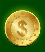 Golden dollar-symbol — Stockvektor