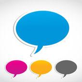 Konuşma balonu çıkartmaları — Stok Vektör